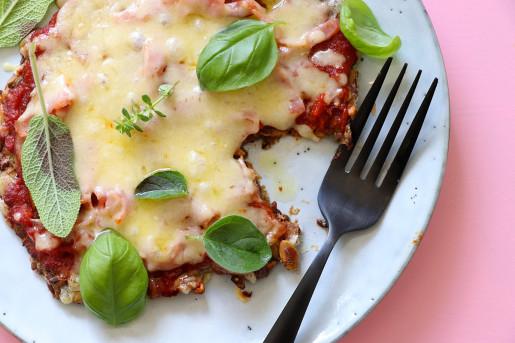 knäckepizza LCHF