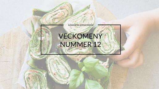 Veckomeny Vego Lesscarbs